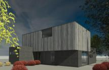 Gevel BIPV zonnepanelen houtlook